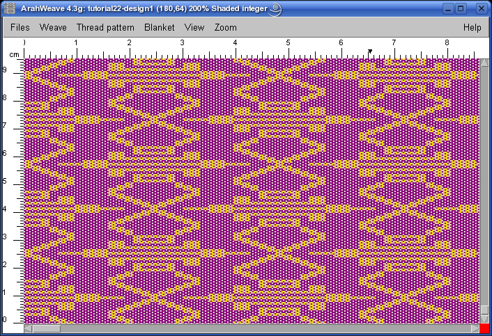 extra warp fabric in ArahWeave software for weaving