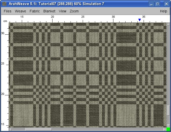 realistic fabric simulation made with ArahWeave software for weaving
